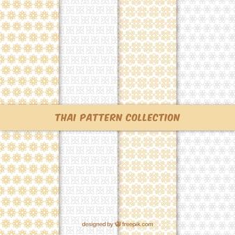 Красочный тайский узор с плоским дизайном