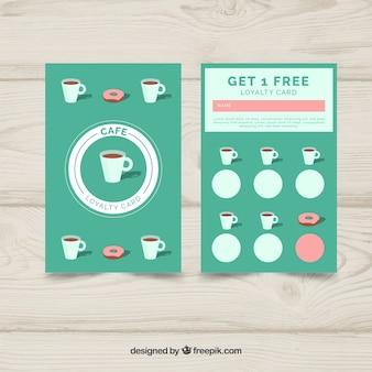 Шаблон карты лояльности кофейня