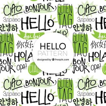 Образец рукописного приветствия на разных языках