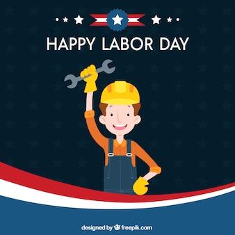 建設労働者と労働日の構成