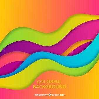 Абстрактный фон с красочными волнами
