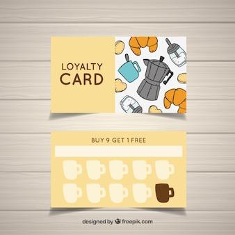 Шаблон карты лояльности в ручном обращении