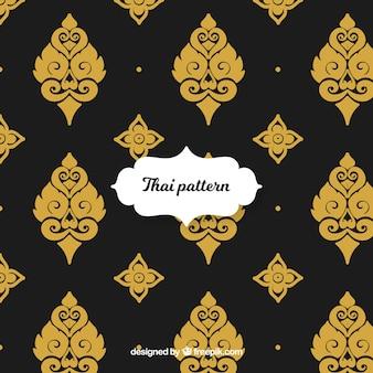Элегантный тайский узор с золотым стилем