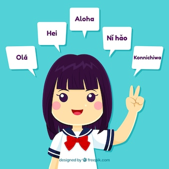 Прекрасные персонажи, говорящие на разных языках