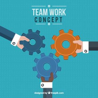 Концепция командной работы с плоской конструкцией