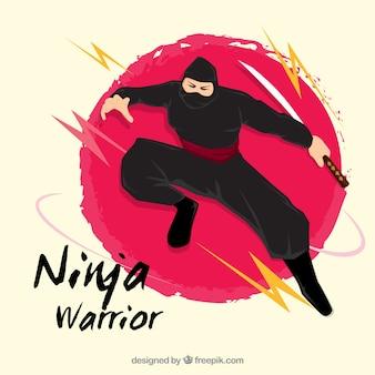 忍者の戦士の背景