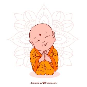 Статуя будды в ручном стиле