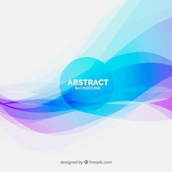カラフルな波とエレガントな抽象的な背景