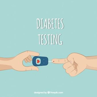 手で描かれた糖尿病の血液検査