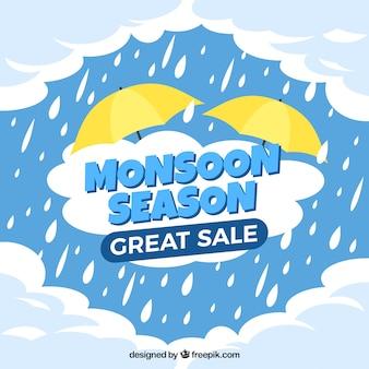 素敵なモンスーン季節の販売組成