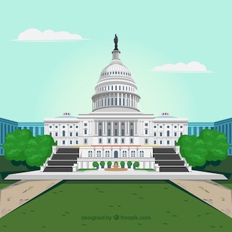 フラットスタイルの米国議会の背景