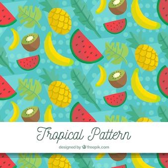 フルーツと熱帯のパターン