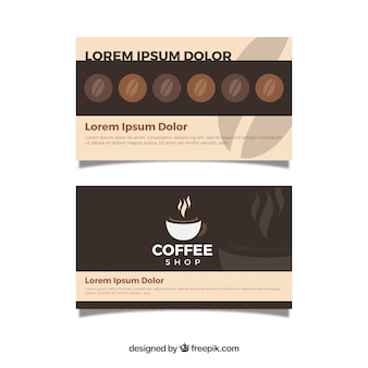 Современный шаблон карты лояльности кофейни