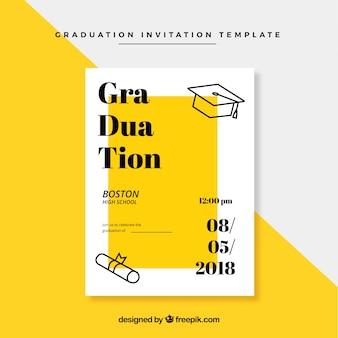 Классический шаблон приглашения на приглашение с плоским дизайном