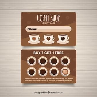 現代のコーヒーショップのロイヤルティカードテンプレート