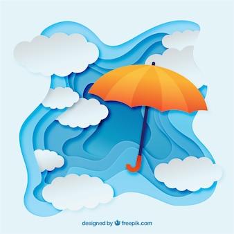 Прекрасная композиция сезона муссонов с плоским дизайном
