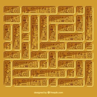 Египетский иероглифический фон