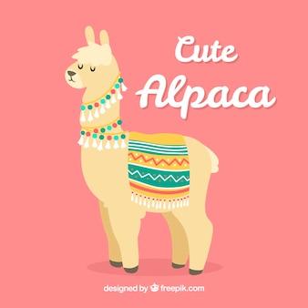 Симпатичный фон альпаки