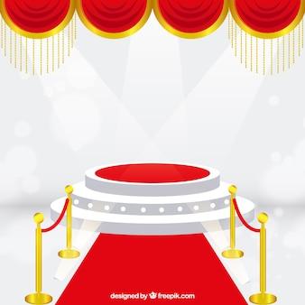 照明付きステージ演壇の背景