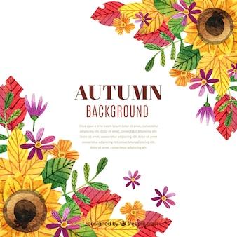 素敵な水彩秋の背景