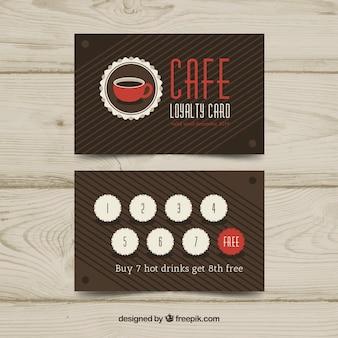 コーヒーロイヤリティカードテンプレート