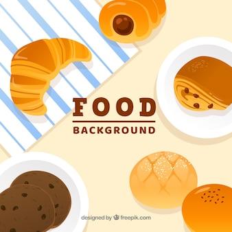 お菓子のある食べ物の背景