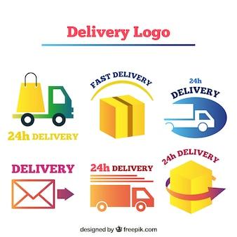 企業向け配送ロゴコレクション