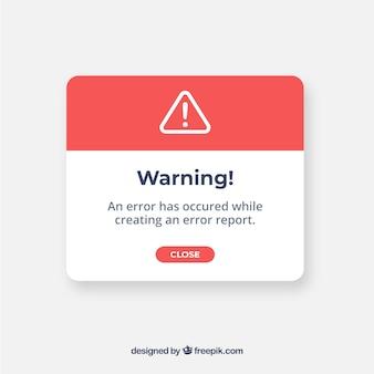 Современное предупреждение всплывает с плоским дизайном