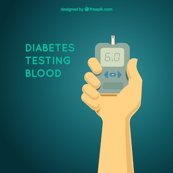 Диабетический анализ состава крови с плоской конструкцией