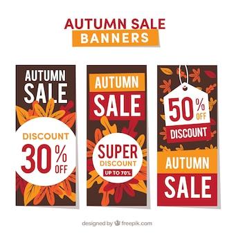 創造的な秋の販売のバナー