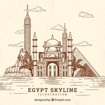カイロのスカイラインの背景