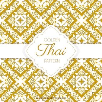 Элегантный желтый тайский узор
