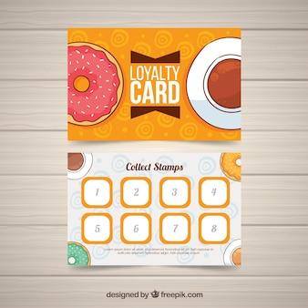 Шаблон карты лояльности с кофейными купонами