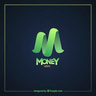 Современный шаблон логотипа с зелеными деньгами