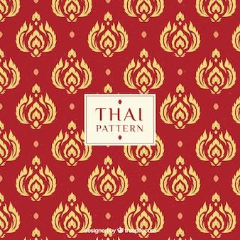 Современный красный тайский узор