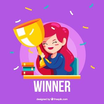 幸せな漫画のキャラクターが賞を受賞
