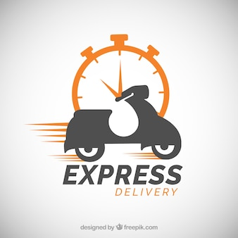 Шаблон логотипа доставки