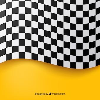 Фон с клетчатым флагом