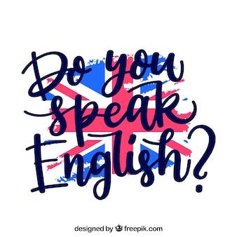 クリエイティブは英語の背景を話しますか?
