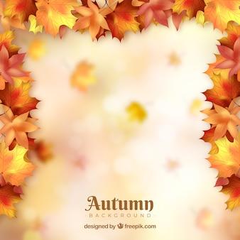カラフルな葉の秋の背景