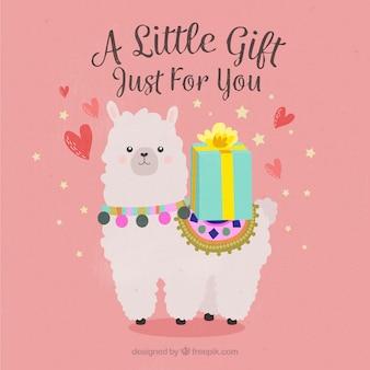 Альпака с подарком