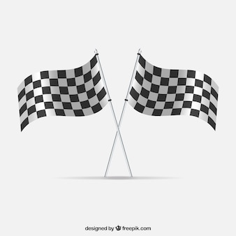 現実的なデザインのレースチェッカーフラッグ