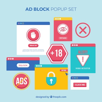 平面デザインのカラフルな広告ブロックのコンセプト