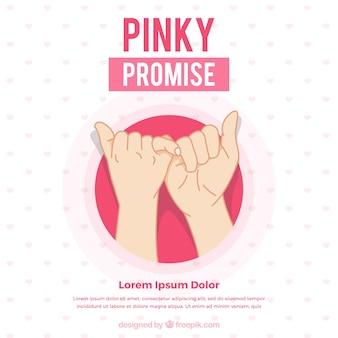 手描きのピンクの約束のコンセプト