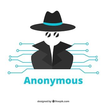 Современная анонимная концепция с плоским дизайном