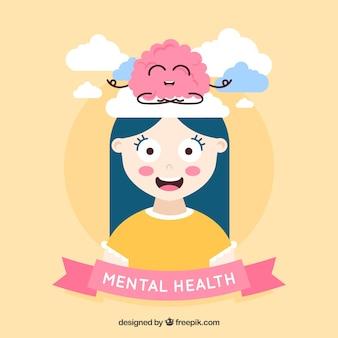 Современная концепция психического здоровья с плоской конструкцией