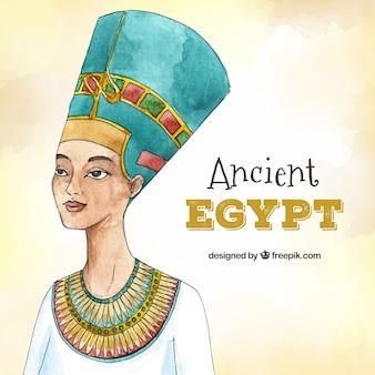 水彩の古代エジプトの組成