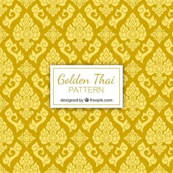 ゴールデンスタイルのエレガントなタイのパターン