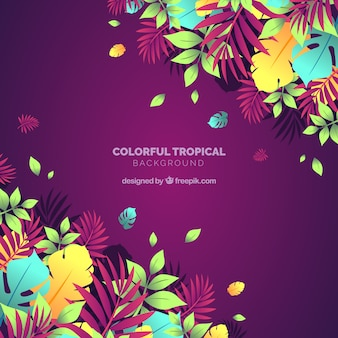 Красочный фон тропических листьев
