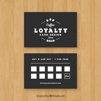 エレガントなスタイルのカフェ・ロイヤリティ・カード・テンプレート